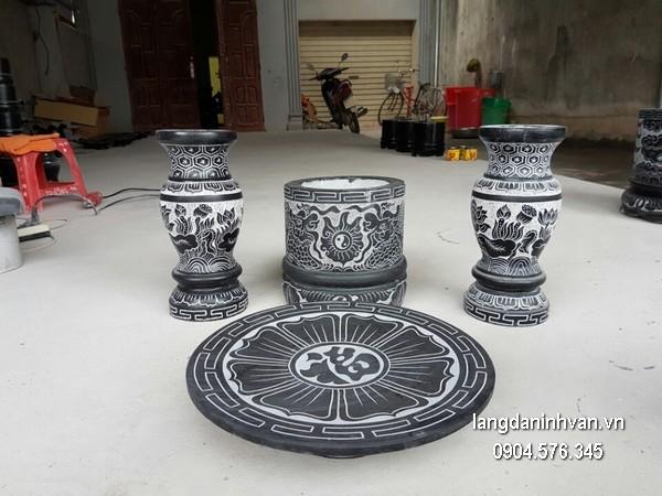 Bát hương đá xanh đẹp chất lượng cao giá tốt thiết kế đơn giản