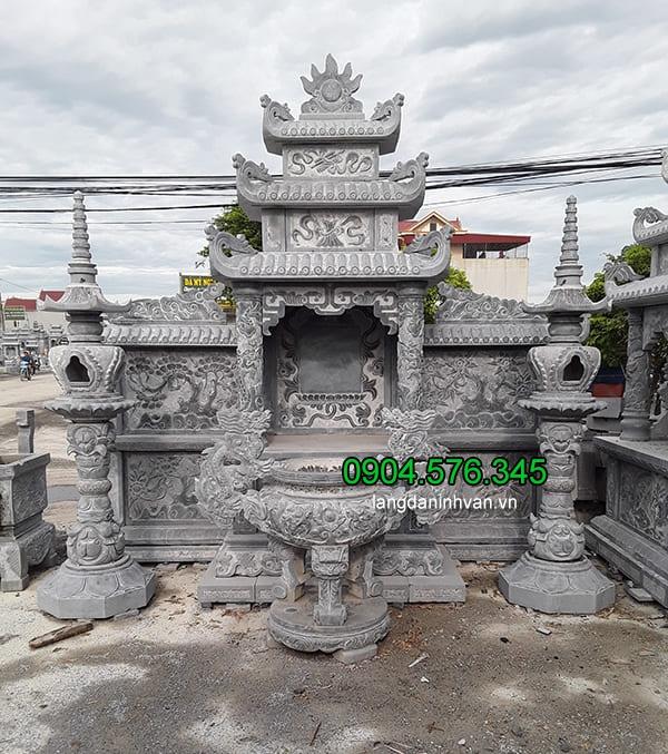 Lăng mộ đá xanh đẹp chất lượng cao thiết kế chuẩn phong thủy