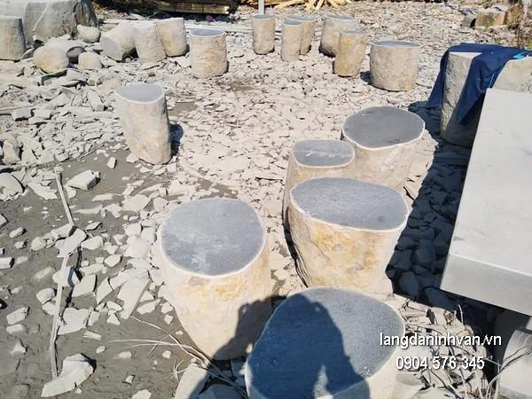 Bàn ghế đá xanh đẹp chất lượng cao giá rẻ thiết kế đơn giản