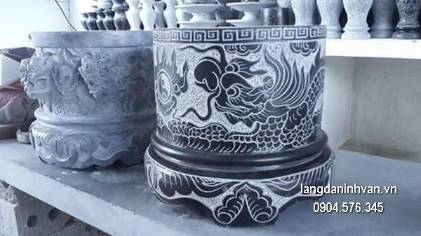 Bát hương đá xanh đẹp chất lượng cao giá hợp lý thiết kế đơn giản