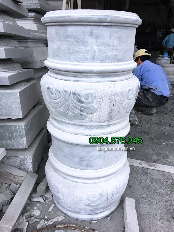 Mẫu chân tảng đá kê cột nhà thờ làm bằng đá xanh tự nhiên đẹp nhất