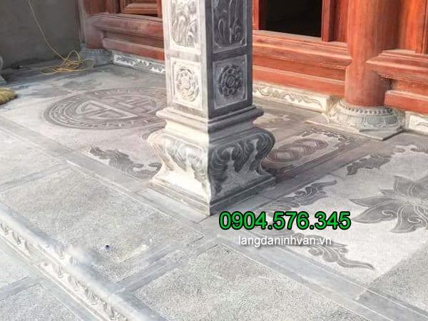 Mẫu chân cột đá vuông, đá tảng kê cột nhà