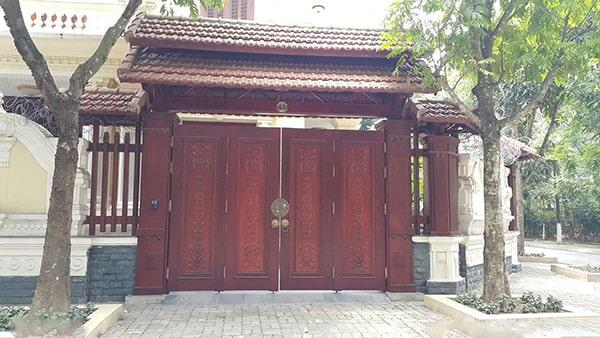 Kích thước cổng nhà 4 cánh(4 cánh bằng nhau) theo thước lỗ ban