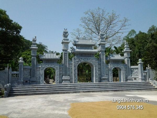 Cổng tam quan đá xanh đẹp chất lượng cao giá tốt thiết kế hiện đại