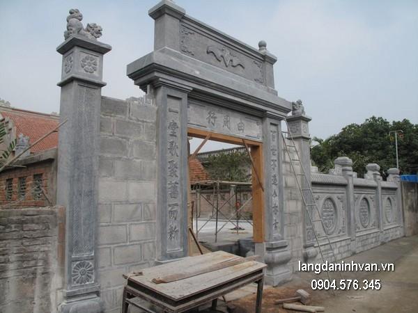 Cổng tam quan đá xanh đẹp chất lượng cao giá tốt thiết kế cao cấp