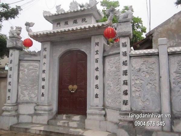 Cổng tam quan đá xanh đẹp chất lượng cao giá hợp lý thiết kế hiện đại