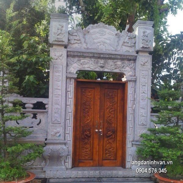 Cổng tam quan đá xanh đẹp chất lượng tốt giá rẻ thiết kế cao cấp