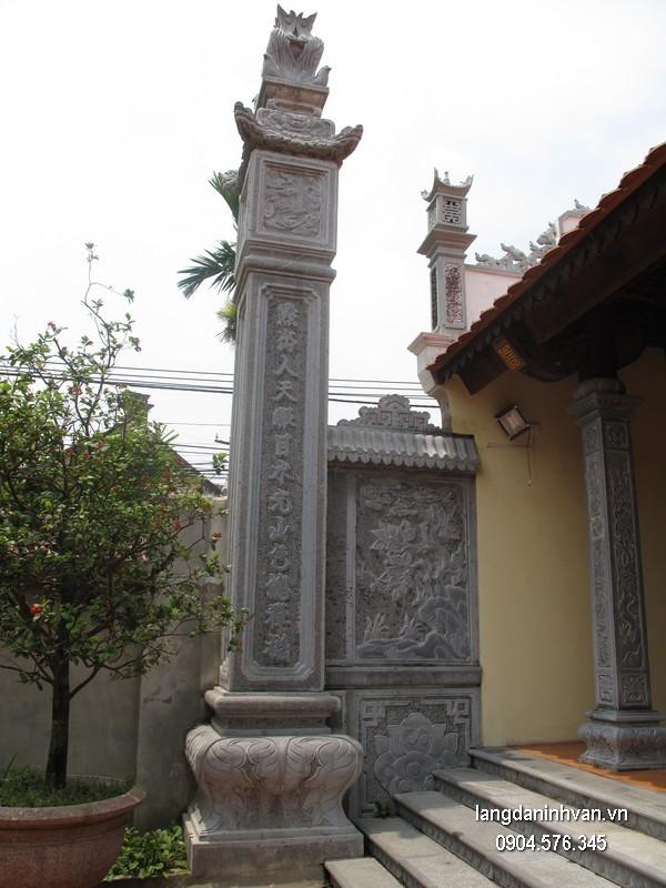 Cột đá xanh tự nhiên đẹp nhất chạm khắc rồng giá hợp lý