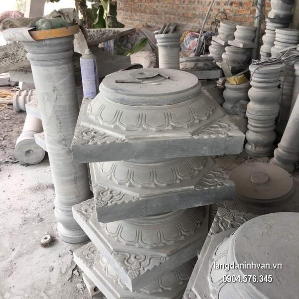 Đá kê chân cột vuông đẹp nhất giá rẻ chạm khắc thủ công