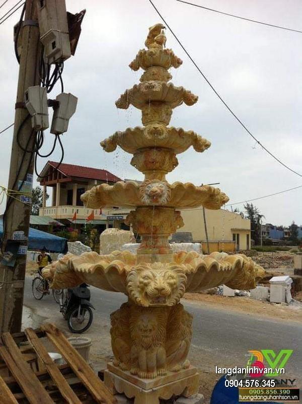 Đài phun nước bằng đá đẹp chất lượng cao giá rẻ