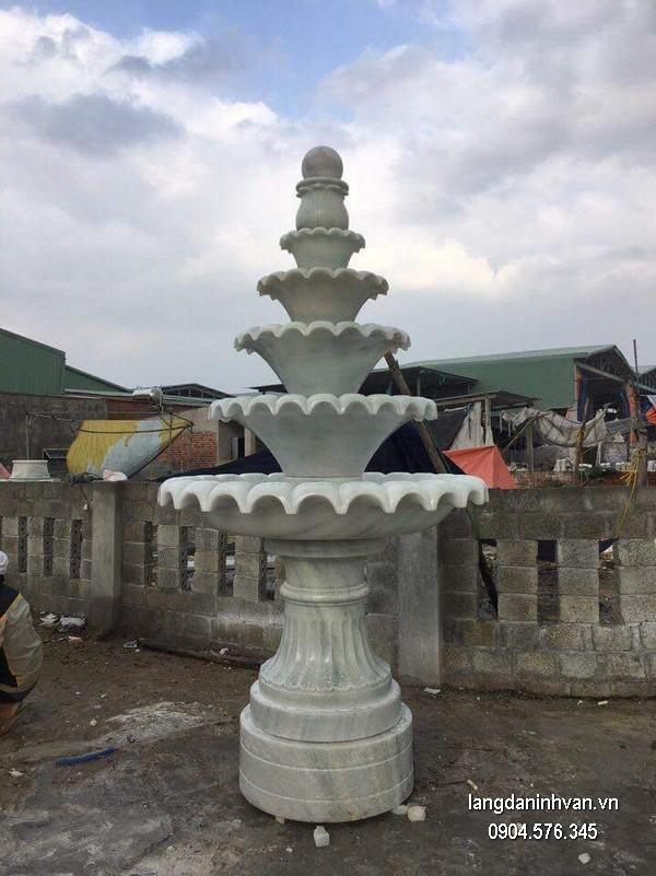 Đài phun nước bằng đá đẹp thiết kế hiện đại giá rẻ