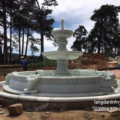 Đài phun nước bằng đá đẹp thiết kế hiện đại giá tốt