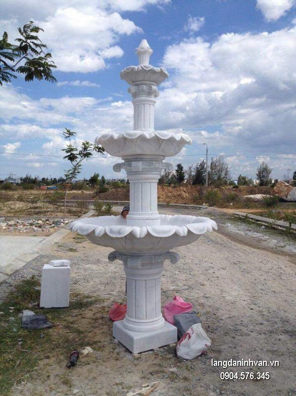Đài phun nước bằng đá đẹp thiết kế cao cấp giá rẻ