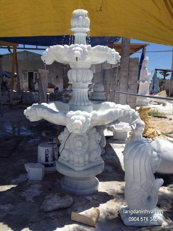 Đài phun nước bằng đá đẹp thiết kế cao cấp giá hợp lý