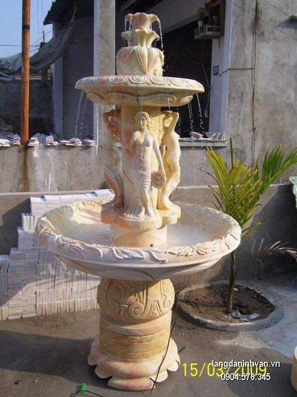 Đài phun nước bằng đá đẹp thiết kế đơn giản giá tốt