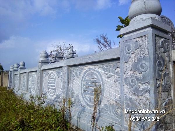Hàng rào đá xanh đẹp nhất chất lượng tốt giá hợp lý thiết kế đơn giản