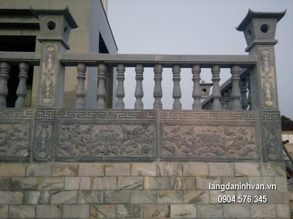 Hàng rào đá đẹp chất lượng cao giá hợp lý thiết kế hiện đại