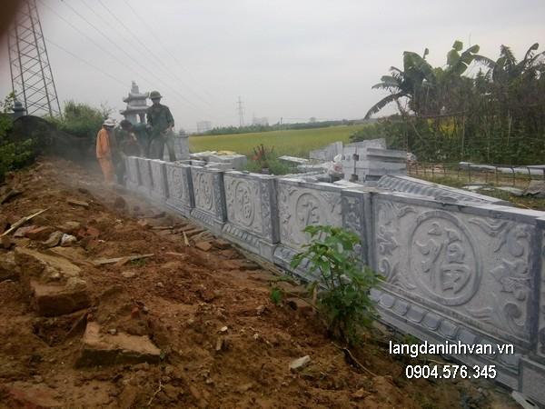Hàng rào đá đẹp chất lượng cao giá hợp lý thiết kế đơn giản