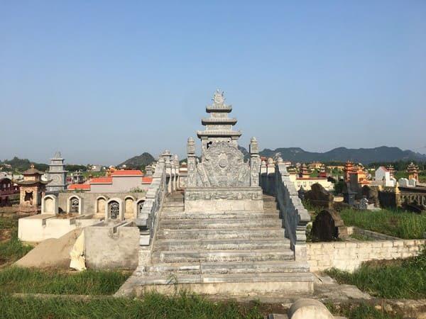 Lăng mộ đá xanh đẹp chất lượng cao giá hợp lý thiết kế hiện đại