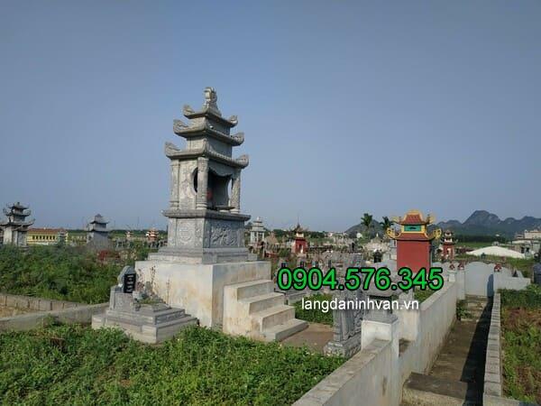 Lăng mộ đá xanh đẹp chất lượng cao giá hợp lý thiết kế cao cấp