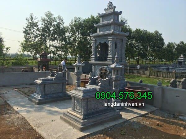 Lăng mộ đá xanh đẹp chất lượng cao giá hợp lý thiết kế đơn giản