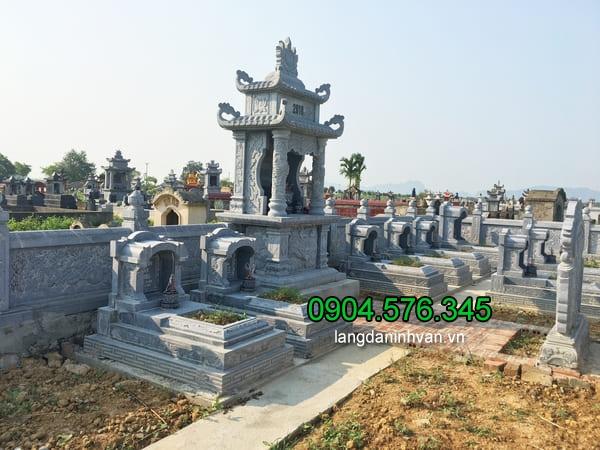 Lăng mộ đá xanh đẹp chất lượng cao giá rẻ thiết kế cao cấp