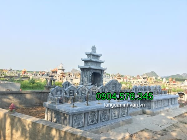Lăng mộ đá xanh đẹp chất lượng cao giá rẻ thiết kế đơn giản