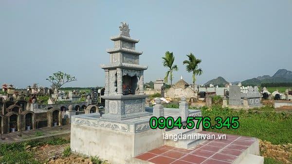 Lăng mộ đá xanh đẹp chất lượng cao giá tốt thiết kế đơn giản