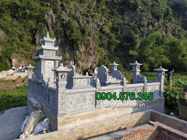 Lăng mộ đá xanh đẹp chất lượng cao giá tốt thiết kế hiện đại