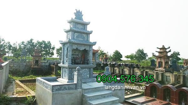 Lăng mộ đá xanh đẹp chất lượng cao thiết kế cao cấp