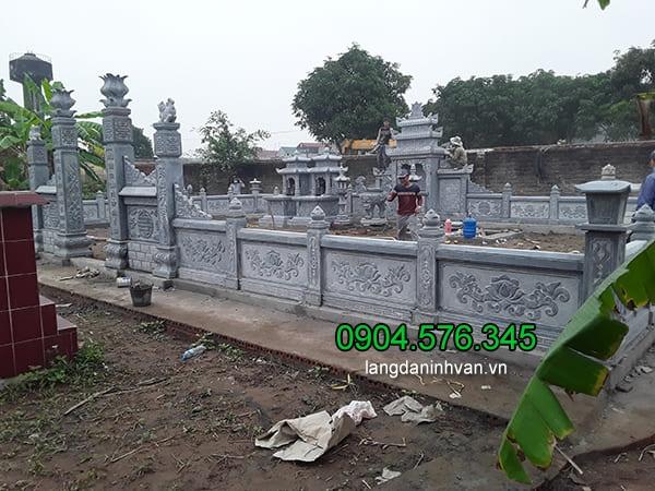 Lăng mộ đá xanh đẹp chất lượng cao thiết kế đơn giản