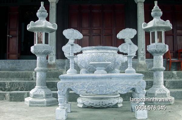 Lư hương đá xanh tự nhiên đẹp chất lượng cao giá rẻ thiết kế hiện đại