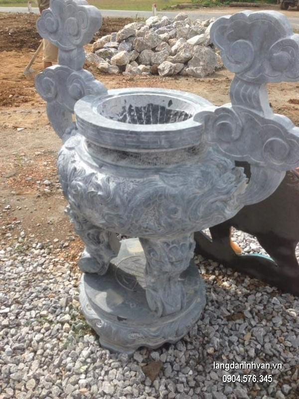 Lư hương đá xanh tự nhiên đẹp chất lượng tốt giá rẻ thiết kế cao cấp