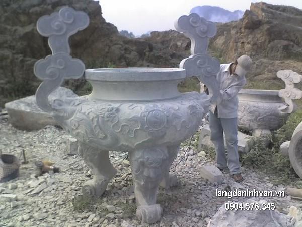 Lư hương đá xanh tự nhiên đẹp nhất chất lượng cao giá rẻ thiết kế đơn giản