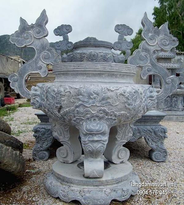 Lư hương đá xanh tự nhiên đẹp nhất chất lượng cao giá tốt thiết kế hiện đại