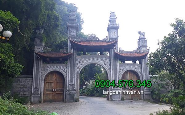 Cổng đền chùa bằng đá đẹp