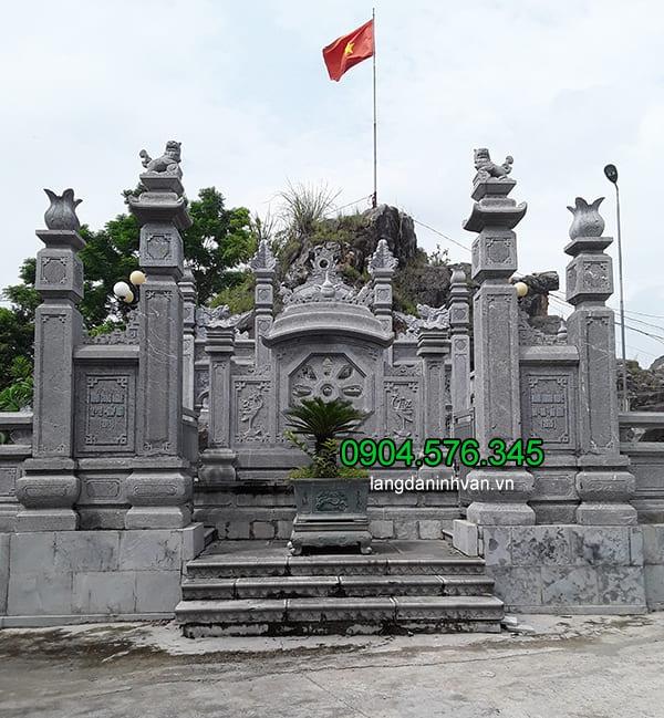 Cột cổng bằng đá xanh tự nhiên đẹp nhất