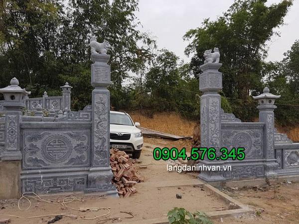 Cột cổng đẹp nhất được làm bằng đá xanh tự nhiên