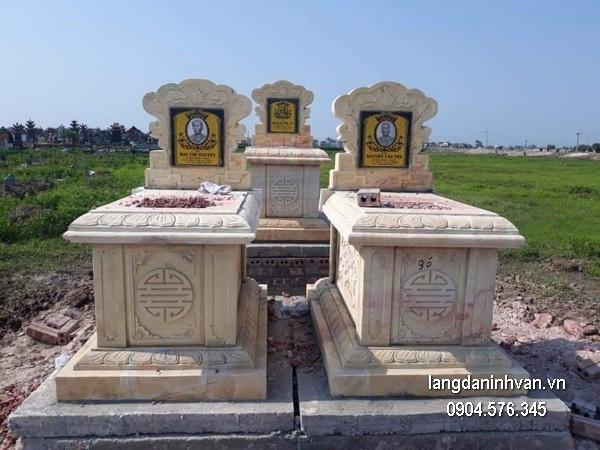Mẫu mộ đá bành xanh khối đẹp nhất chất lượng tốt giá rẻ thiết kế cao cấp