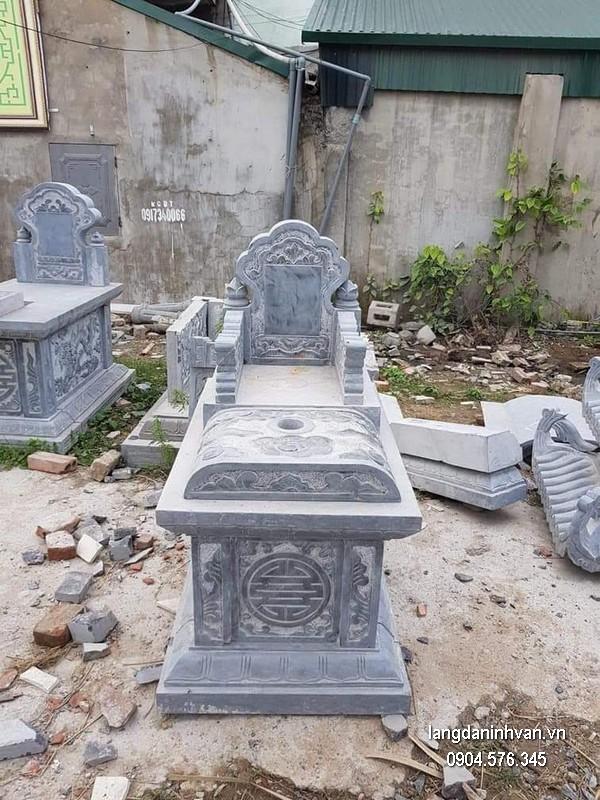 Mẫu mộ đá bành xanh khối đẹp nhất chất lượng tốt giá rẻ thiết kế đơn giản