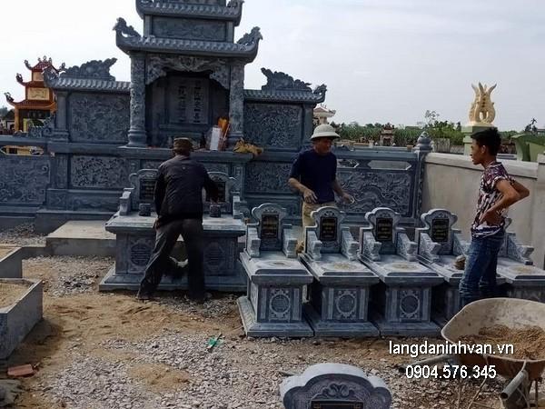 Mẫu mộ đá bành xanh khối đẹp nhất chất lượng tốt giá tốt thiết kế hiện đại