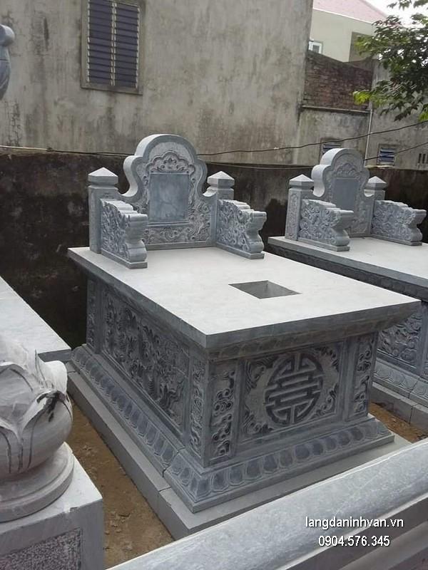 Mẫu mộ đá xanh khối đẹp nhất chất lượng tốt giá tốt thiết kế đơn giản