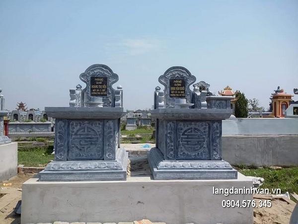 Mẫu mộ đá bành xanh khối đẹp nhất chất lượng tốt giá hợp lý thiết kế hiện đại