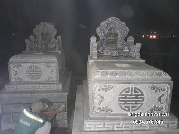 Mẫu mộ đá bành xanh khối đẹp nhất chất lượng tốt giá hợp lý thiết kế cao cấp