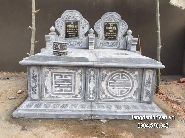 Mẫu mộ đá bành xanh đẹp chất lượng cao giá hợp lý thiết kế hiện đại