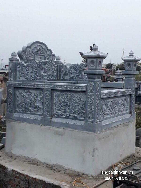 Mẫu mộ đá bành xanh đẹp chất lượng tốt giá tốt thiết kế đơn giản