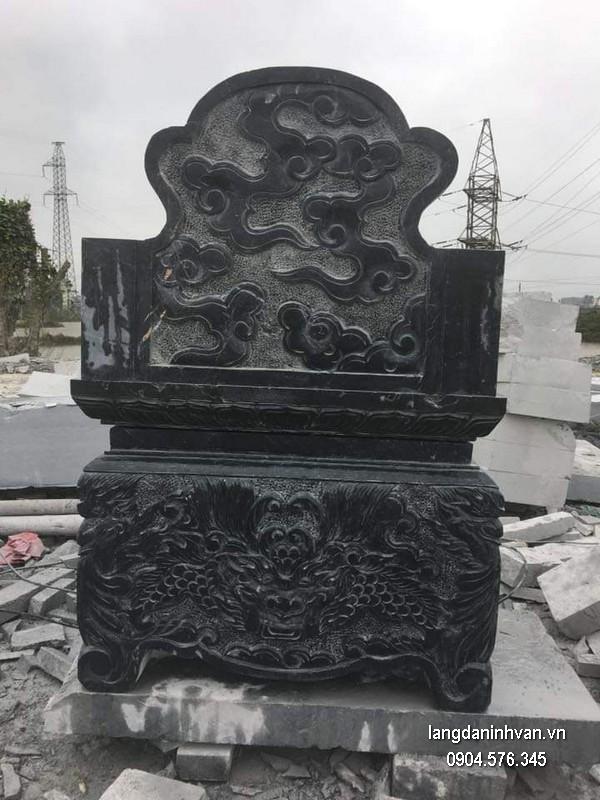 Mẫu mộ đá bành xanh đẹp chất lượng tốt giá hợp lý thiết kế hiện đại