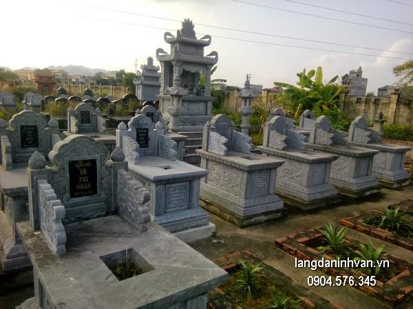 Mẫu mộ đá bành xanh đẹp chất lượng tốt giá hợp lý thiết kế cao cấp