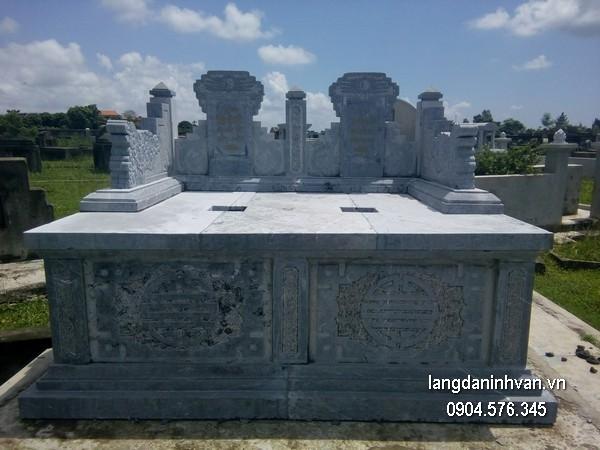 Mẫu mộ đá bành xanh chất lượng cao giá rẻ thiết kế hiện đại