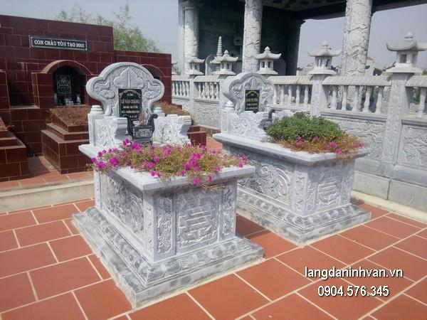 Mẫu mộ đá bành xanh chất lượng cao giá rẻ thiết kế cao cấp